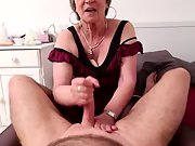 Sexy older knows how to give a handjob