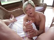 Brief hair milf makes her mans schlong rock hard