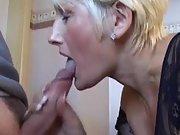 Sexy mom works very hard to make my manhood cum