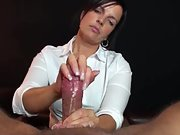 Beautiful milf satiates a manmeat with her lovely hands