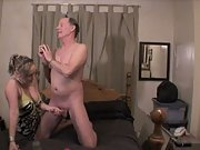 Jaw-dropping blonde bitch cheats on her boyfriend with an older sugar father